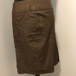 Brown Pencil 'BUSINESS' Skirt
